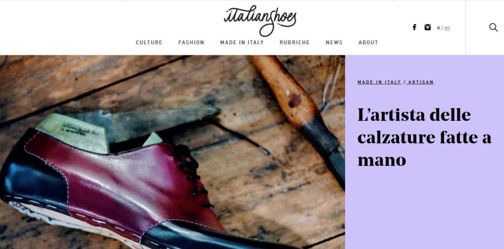Un articolo di Italian Shoes, magazine di brand journalism